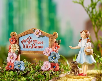 Miniature Garden - Wizard of Oz -Dorothy and Sign - Miniature Fairy Garden Supplies