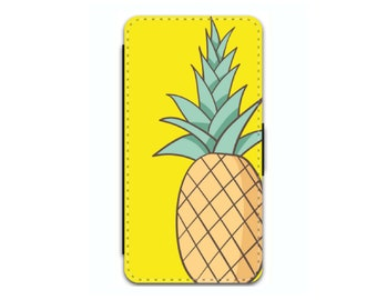 pineapple phone case wallet | tropical iphone case | pineapple gifts | iphone 7 case | iphone 8 plus case | galaxy s8 case | iphone x case