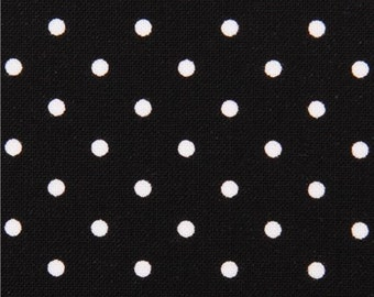 189911 black Michael Miller dot fabric Pinhead