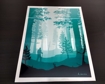"11"" x 14"" Encapsulated Metal Print (Forest)"