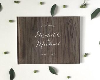 Wedding Guest Book - Wedding Guestbook - Custom Guest Book - Personalized Guestbook - Rustic Wedding Keepsake - Woodsy Guestbook