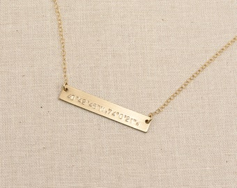 Coordinates Bar Necklace, gps Coordinates Bar, Best Friend Necklace, Coordinates Gift, Personalized, Custom Name Necklace