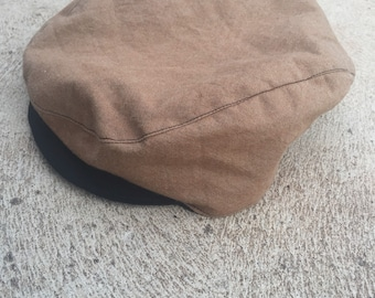 Baby and boys brown and black vintage rockabilly flat cap newsboy hat