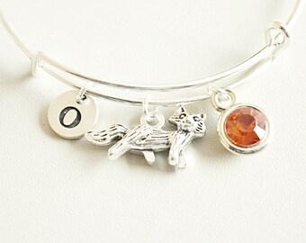 Fox bracelet, Fox Charm bracelet, Fox Jewelry, Fox Gift, Animal Bracelet, Animal jewelry, Animal lover gift, Animal lover jewelry,Birthday