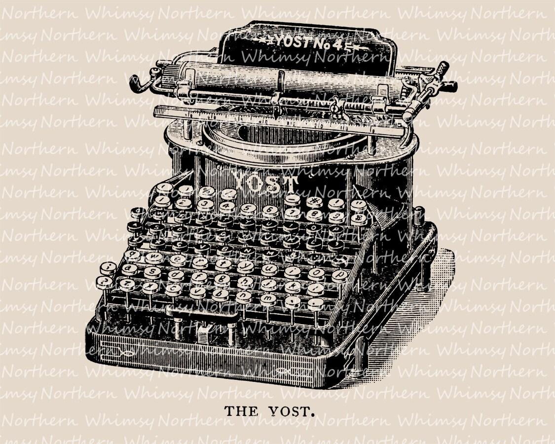 Viktorianischen Schreibmaschine ClipArt-Vintage