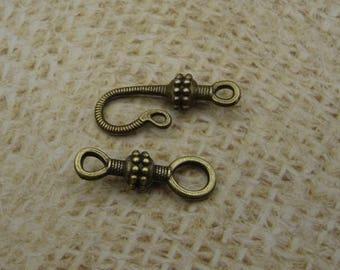 15 hook 45mm bronze metal clasps