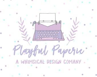 Business Branding Package // Custom Logo // Printmaking Typewritter Paper Goods