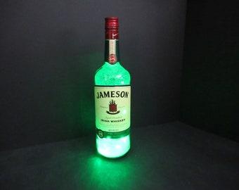 Jameson bottle light, Jameson whiskey, St Patrick's Day, Irish whiskey, Jameson gift, Jameson decor, Irish decor, Jameson party, barware