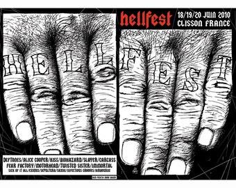 gig poster HELLFEST 2010