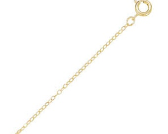 14K 20K Gold Filled CABLE Chain Necklace for Pendants ( 1.5 mm )