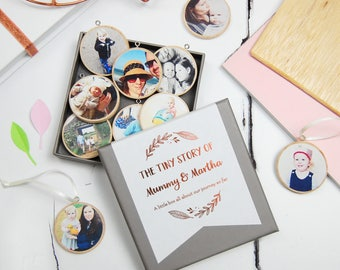 Personalised Mummy And Me Photograph Keepsakes - Mother's Day Decoration Gift Box - New Baby Personalised Baubles - Mommy And Child Keepsake