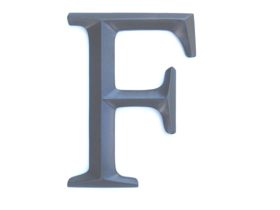 Letter F Sign Large Letter F Wall Decor
