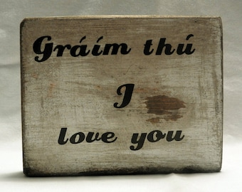 Irish Gaelic I love you sign