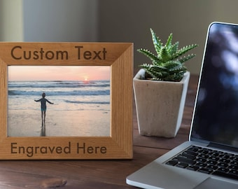 Personalized Frame, Custom Engraved Wood Picture Frame, Gift For Family, Wedding Frame, Newlywed Gift, 4x6, 5x7