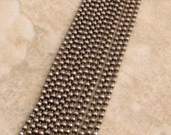Antique Silver Ball Chain, 1.5 mm, Diamond Cut, 6 Ft., AS270