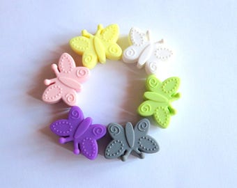 Silicone pacifier Butterfly bead