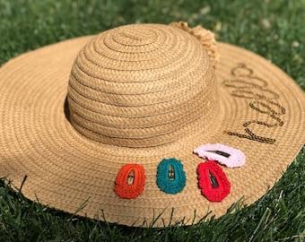 Crochet barrettes / crochet snap clips / crochet hairclips