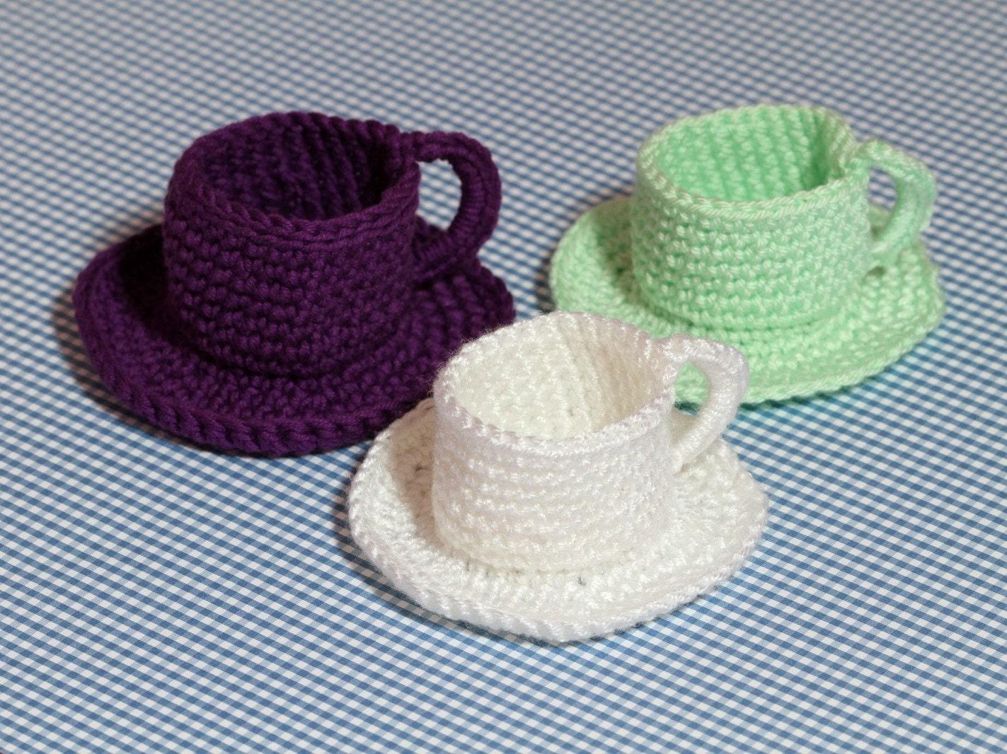 Tea Cup and Saucer Crochet Pattern, PDF Crochet Pattern, Tea Cup ...