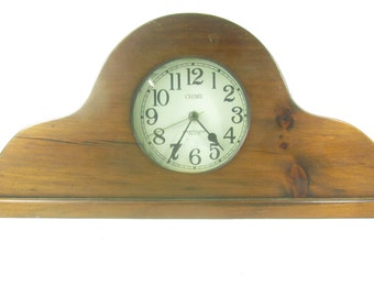 Westclox Electric Mantle Clock, Vintage Wooden Clock, Chime Mantle Clock