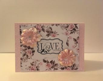 Handmade Love Card- Love Forever
