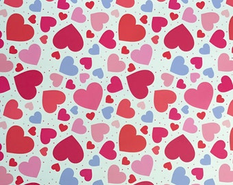 Multi Colored Heart pattern for Cricut and Silhouette (Quality 3m Vinyl)