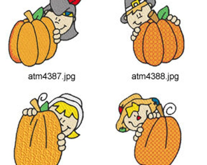 Thanksgiving-Pumpkin-Peekers ( 7 Machine Embroidery Designs from ATW ) XYZ17E