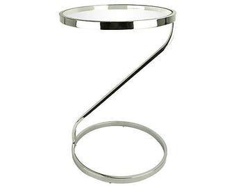 Baughman-Style Chrome Cantilevered Table