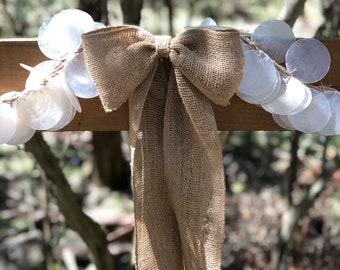 Two Burlap Bows  Burlap Bows Wedding Bows Garland Bows Rustic Bows Gift Bows Home Decor Bows Wreath Bows Event Decor Bows Twin Bows