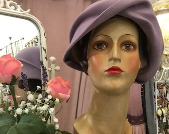 "The brand ""Mark"" lilac Bell 1925 Hat"