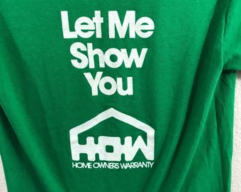 Vintage 70's Slim Fit Single Stitch Home Owners Ad Graphic T Shirt sz M