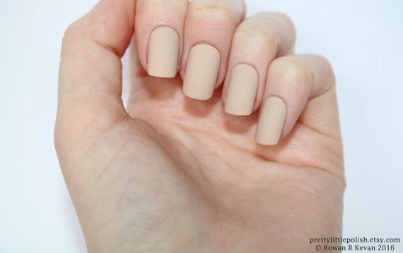 Matte nude short square nails Nail designs Nail art Nails