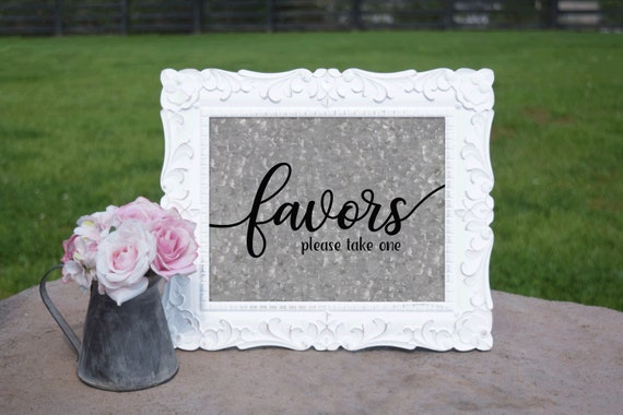 Favors Sign | PRINTED Wedding sign, Galvanized Party Decor, Wedding Signage, Party Decorations, Outdoor Wedding Decorations, Rustic wedding
