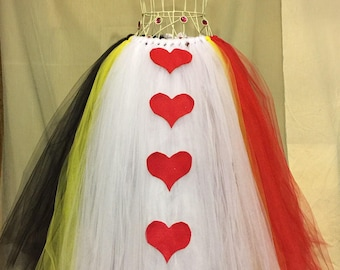 Queen of hearts full length tutu