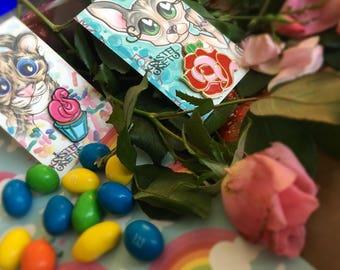 Yummy Cupcake Pin & Tattoo Rose Pin
