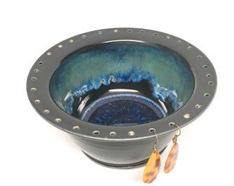 SALE PRICE. Pottery Earring holder/Jewelry Bowl/bracelet holder