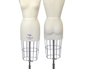 Pro Dress Form Ladies Dressmaker Professional Industry Grade Dress Form w/ Collapsible Shoulder w/ Realistic Buttock