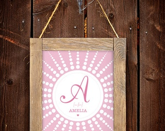 Baby Girl Monogram Print for a Baby Girl's Nursery  - Instant Download Wall Art - Print at Home