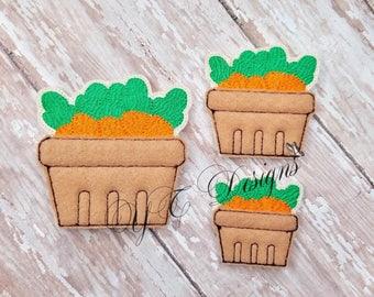 Basket of Carrots Feltie Easter Carrot Basket Digital Embroidery File