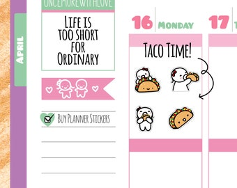 Munchkins - Taco Time Planner Stickers (M177)
