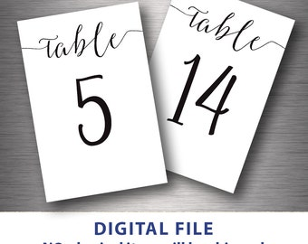 Wedding Table Numbers   Etsy HK