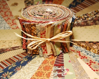 Jelly Roll -  Civil War Reproduction Fabrics - 20 strips
