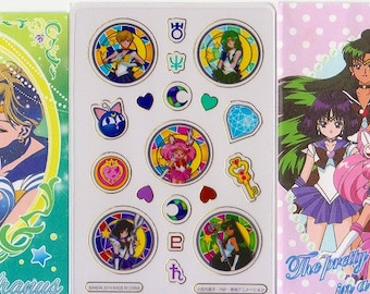 Sailor Moon Stickers - Clear Stickers - Small Trading Card Size - Reference A6420