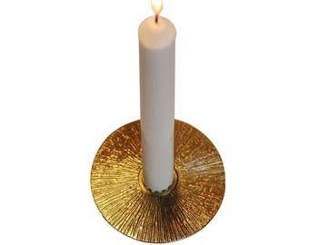 Brass Sun taper candle holder