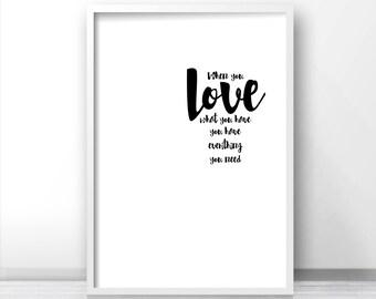 Instant Download Printable Art, Wall Print Quote, Digital Download Art, Typography Wall Art Print, Inspirational Quote Art, Minimalist Art