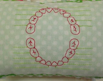 Tooth Fairy Pillow Tooth Chart--Add to back of any tooth fairy pillow in this shop
