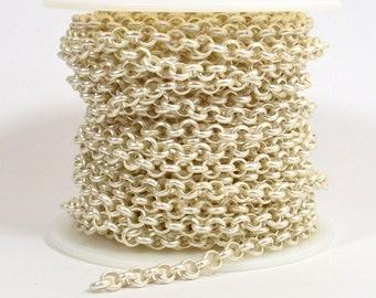 4.8mm Rolo Chain - Matte Silver - CH80 - Choose Your Length