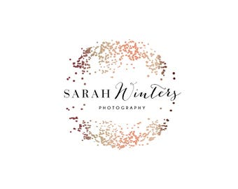 Pre-made logo,wedding logo,pretty logo,glitter logo, bronze logo,fashion logo,fashion label,confetti logo, photography logo