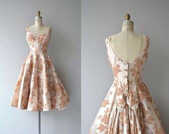 Mam'selle silk dress | vintage 1950s brocade dress | silk 50s party dress