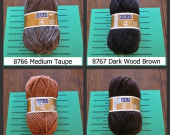 Bernat Berella - 4 Knitting Worsted Weight - assorted colors - 3 1/2 oz - 1 skein