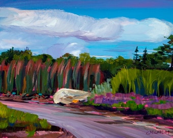 Maine Landscape Plein Air Painting Coastal Maine Botanical Garden 2